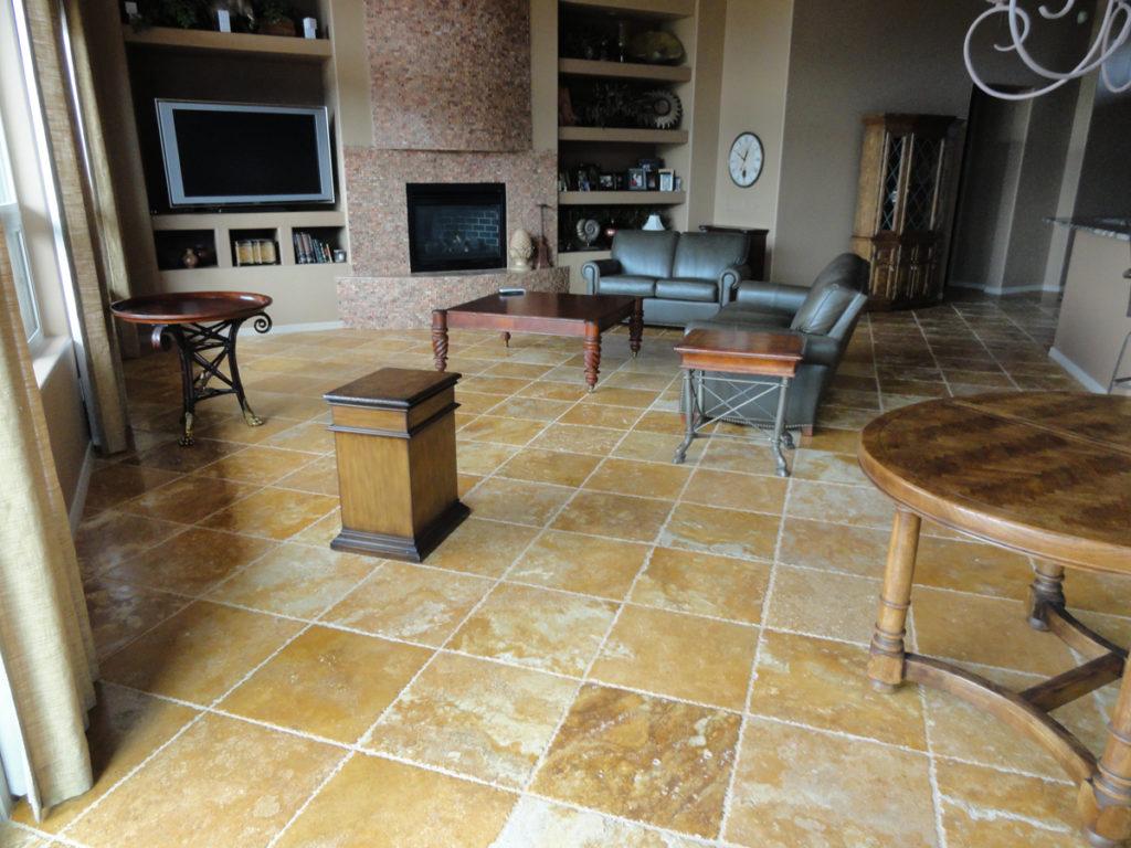 Floor tile installation tucson certified tile installer 520 18x18 chiseled travertine floor tile stone canyon dailygadgetfo Choice Image