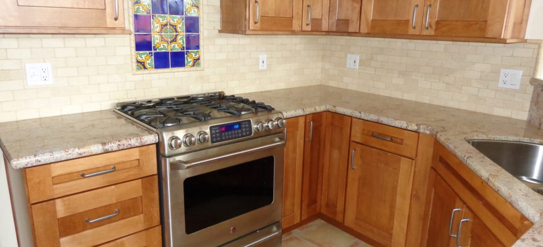 ... 1x2 Tumbled Travertine Kitchen Backsplash, Tucson (1) ...