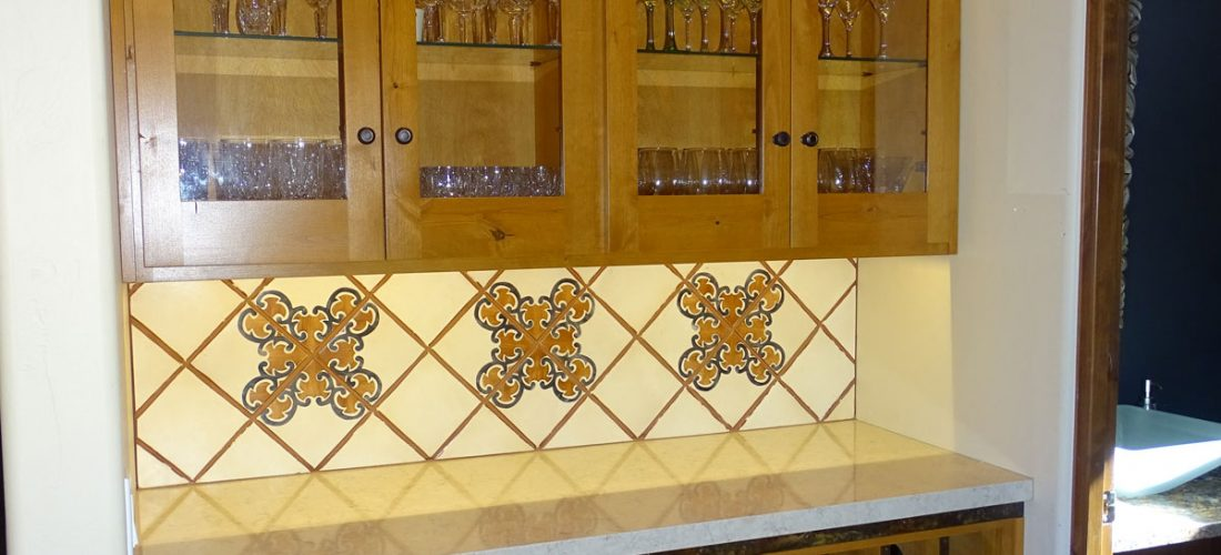 Handmade-Tile-on-bar-backsplash,-Dove-Mountain,-Tucson