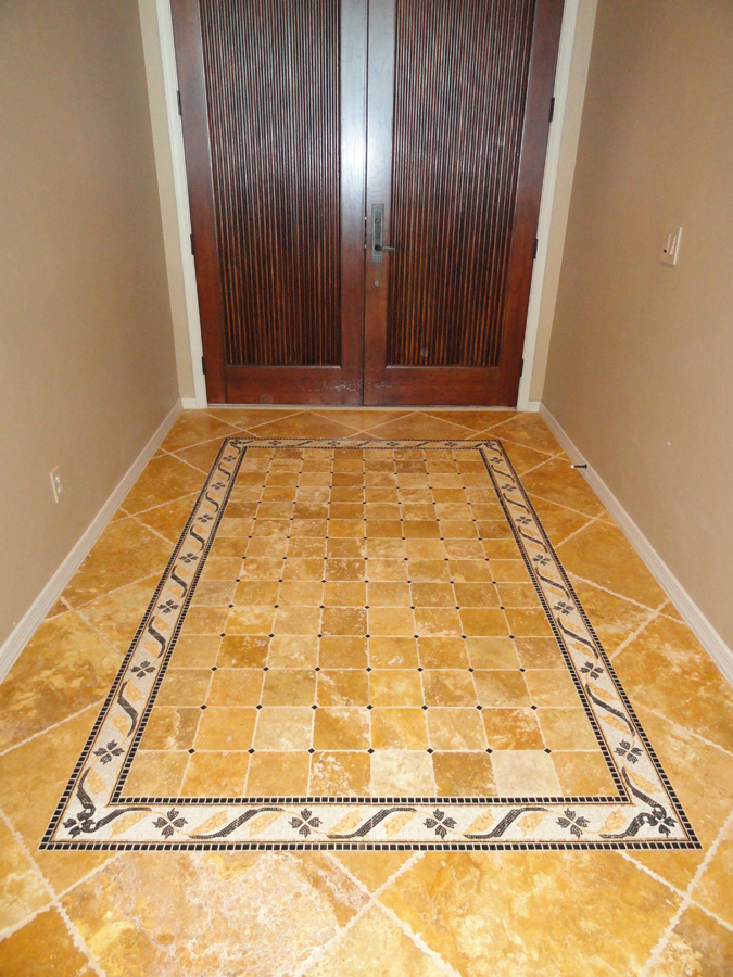 Miscellaneous tile installation tucsoncertified tile installer520 mosaic tile rug pattern entryway foyer tile deco tyukafo