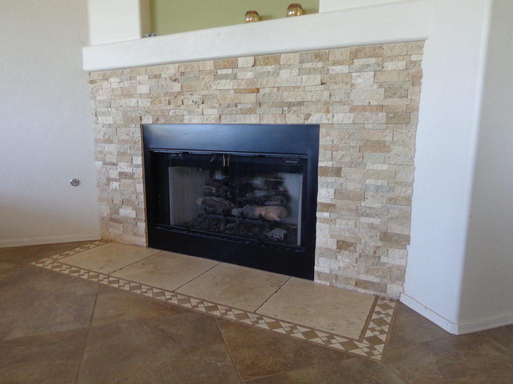 Splitface Stone Fireplace Tucson