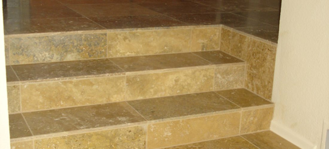 Travertine-tile-steps,-tucson