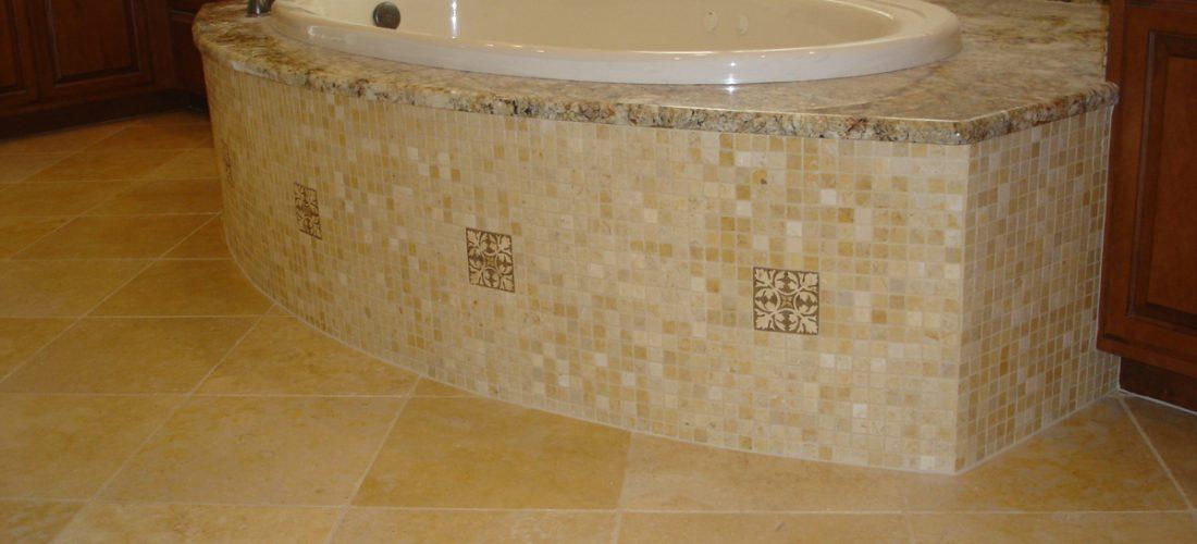 Tub-Deck-face-mosaic-tile-installation,-tucson