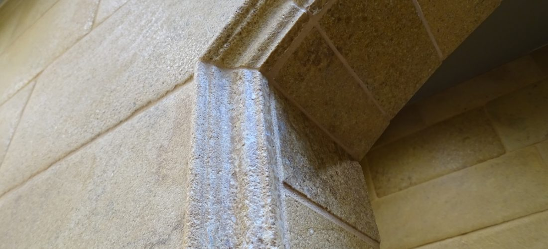 limestone-chair-rail-tile,-tucson