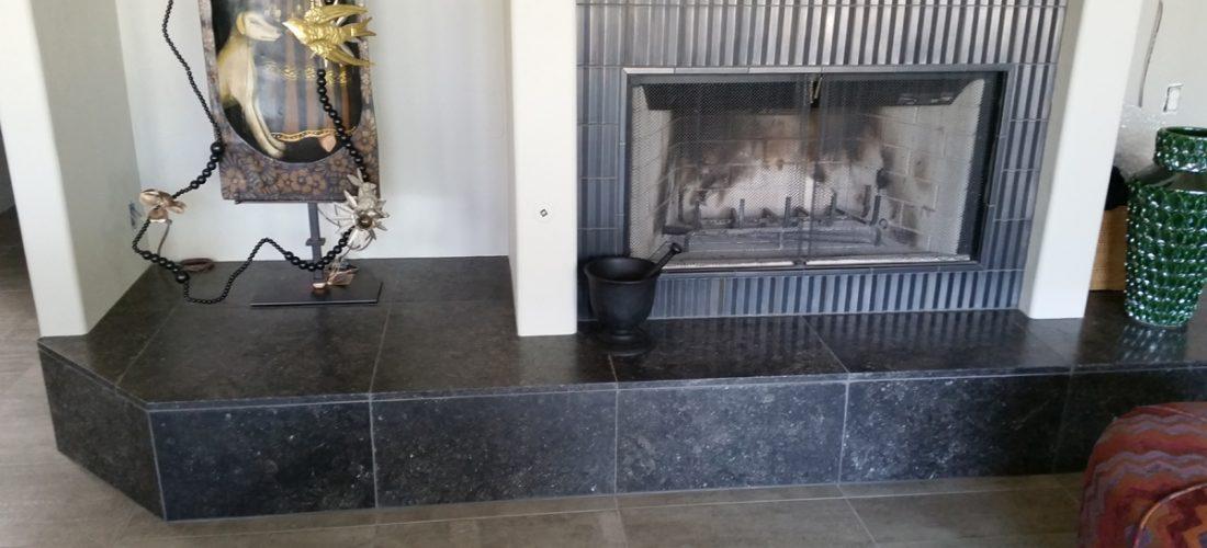 limestone-fireplace-tile_-metal-tile_-tucson