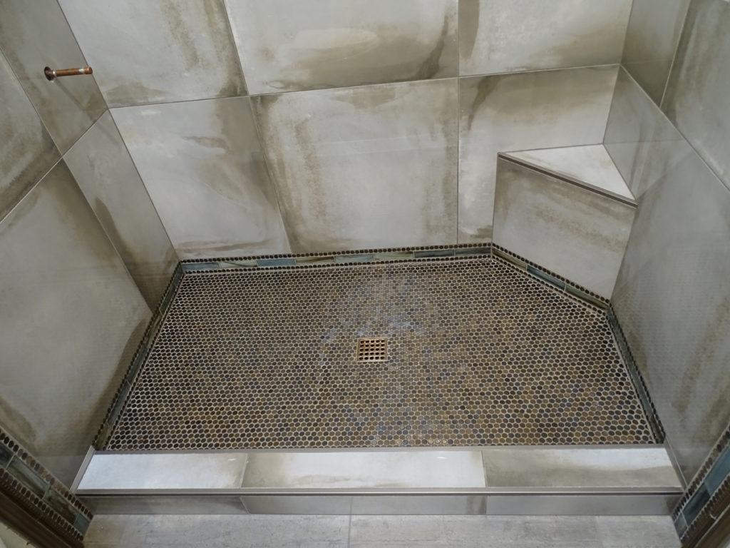 Penny Round Tile Shower Floor Round Designs