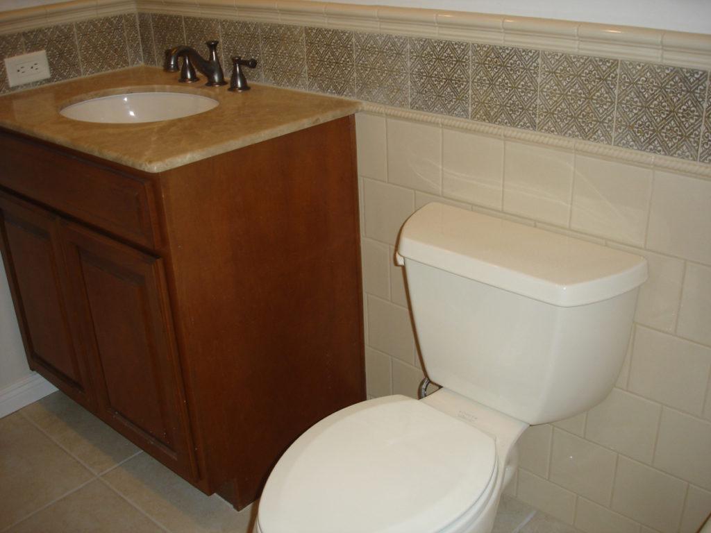 Dove mountain certified tile installer 520 245 9748 tile wainscot guest bathroom tucson shiifo